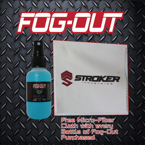 Fog-Out spray bottle with soft towel Stroker Industries