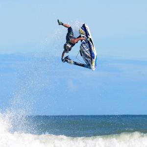 Mark Gomez: Professional Jet Ski Free Rider- 2x IFWA Motosurf doing backflip