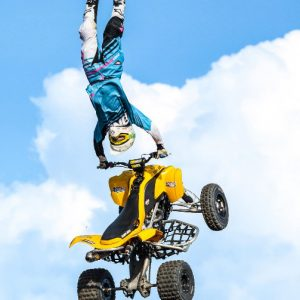 Derek Guetter: Professional ATV Rider doing backflip
