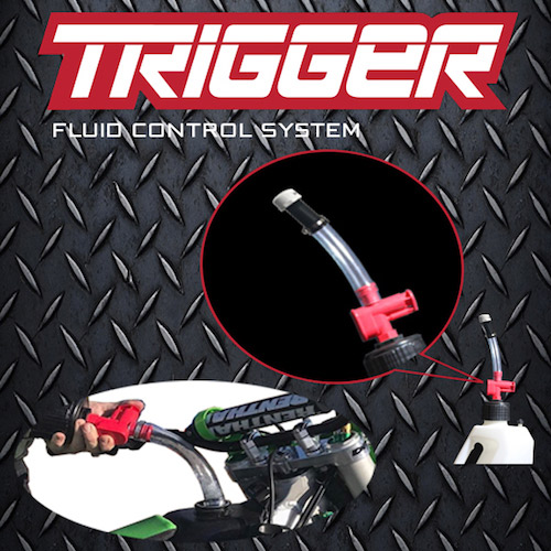 the trigger fluid control system product image showing trigger in use