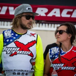 George Holmquist and Amanda LeCheminant Team Phuckit Aqua Cross male and female riders